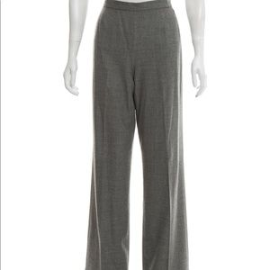 Michael Kors size 12 Grey Wool Wide leg pants